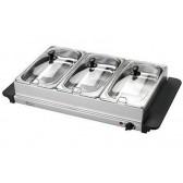 Chauffe-plat électrique 3 compartiments